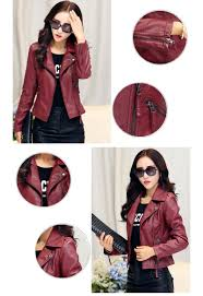 cheap leather motorcycle jackets new 2017 women faux leather jackets jaqueta couro winter coat