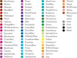 list of color list of colors google search color pinterest