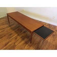 Teak Coffee Table Teak Coffee Table With Slide Out Shelf Chairish