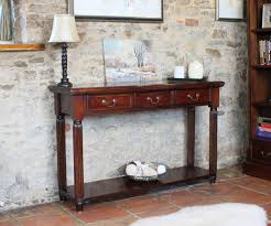 Ikea Hallway Table La Roque Mahogany Console Hall Table With Drawers Imr02c