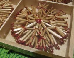 straw ornaments etsy