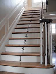 Stair Laminate Flooring How To Decorate Stair Risers With Numbers Decorating Stair Risers