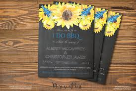 Sunflower Wedding Invitations I Do Bbq Invitations For Weddings Glitter U0027n Spice