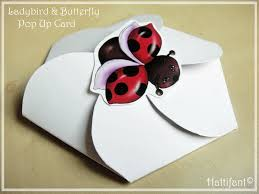 how to make ladybird u0026 butterfly pop up card hattifant