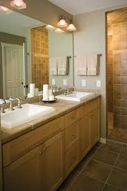 Master Bathroom Mirrors by Dazzling Master Bathroom Mirrors And Lighting Using Double Sconce