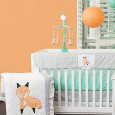 10 Piece Nursery Bedding Sets by Grace Creations Friendly Fox Crib Bedding Set