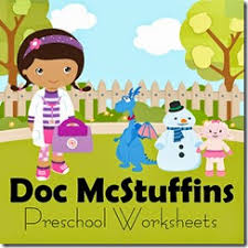 doc mcstuffins preschool worksheets freebie