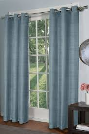 amazon com design décor raw silk curtain panel ice blue home