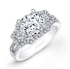 white diamonds rings images White gold split shank white diamond engagement ring with jpg
