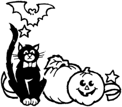 scary halloween clipart black and scary halloween clipart halloween clipart black and white 18919