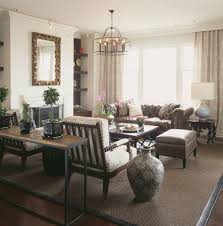 Ethan Allen Oriental Rugs Ethan Allen Leather Sofa Family Room Contemporary With Area Rug