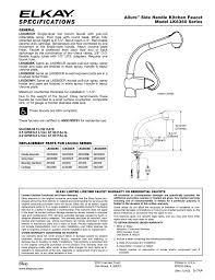 elkay lk6360 series user manual 1 page