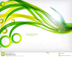 green abstract eco wave swirls with lights stock vector image