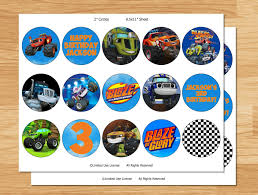 blaze and the monster machines pictures for printing cup cakes