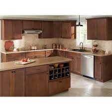 home depot kitchen cabinets hton bay hton bay 36x36x12 in shaker wall cabinet in cognac