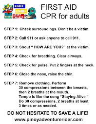 learning first aid cpr for adults pinoy adventure rider