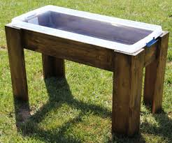 diy sand and water table pvc wooden frame water table