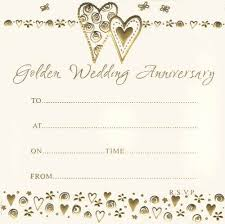 golden wedding anniversary golden wedding anniversary invites in packs of 10 party wizard