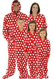 sleepytimepjs family matching polka dot fleece onesie pjs footed