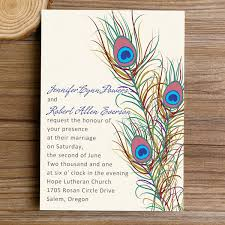 vintage wedding invitations cheap cheap vintage peacock feather wedding invitations ewi319 as low as