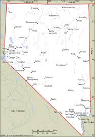 printable map of nevada map of nevada state printable