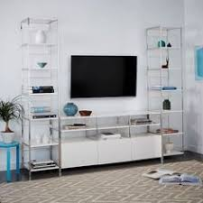 Media Cabinet West Elm Lacquer Storage Media Console Consoles Storage And White Office