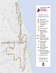 Chicago Bus Routes Map by Chicago Marathon Map Chicago Marathon Race Map United States Of
