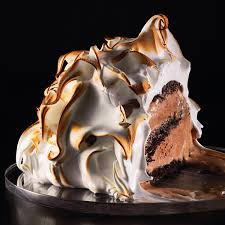 martha stewart halloween cakes baked alaska with chocolate cake and chocolate ice cream