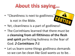 cleanlinessisgodliness