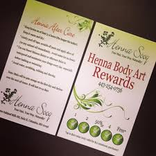 our new henna rewards card henna blog spot