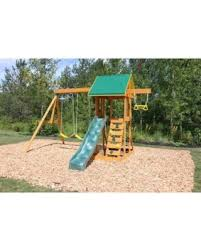 bargains on big backyard meadowvale ii wooden swing set