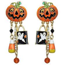 halloween earrings trick or treat