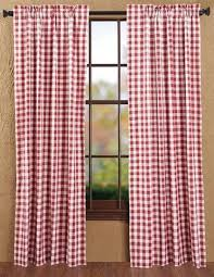 buffalo red check curtains at primitive star quilt shop
