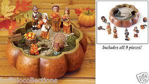 9 pc collectible mini pilgrims americans thanksgiving