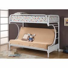 White Metal Futon Bunk Bed Futon Bunk Bed Metal Frame Charming Assembly