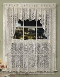 Lace Trim Curtains Lace Curtains Tiers And Swag 10 Curtain Crochet Trim Ancoti
