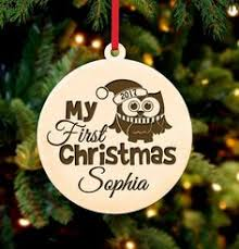 personalized christmas ornament to the moon u0026 back cabanyco