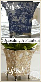 upcycling an old planter budget decorating stonegable budget decorating stonegable