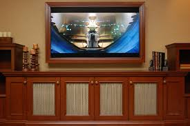 built ins for tv home theater traditional with wood cabinets tv