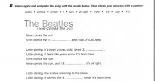 the beatles here comes the sun worksheet pdf google drive