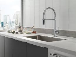 delta faucet trinsic pro single handle pull down kitchen faucet