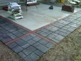 Lowes Patio Pavers Designs Lowes Landscape Pavers Concrete Patio Concrete Stepping