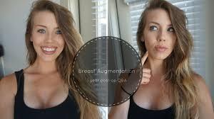 breast augmentation 1 year post op update q u0026a youtube