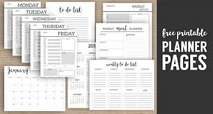 monthly planner template printable planner pages paper trail