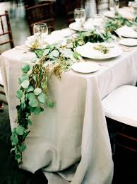 wedding table linens rentals greenery centerpiece greenery centerpiece linen rentals
