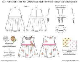kids illustrator flat fashion sketch templates my practical