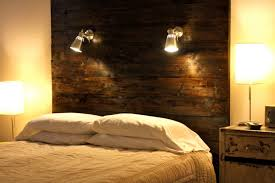 rustic headboard light fixtures for diy master bedroom decorating