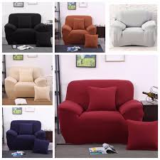 Easy Stretch Sofa Covers Single Seat Stretch Elastic Sofa Cover Dust Proof Easy Clean