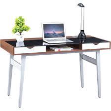 Small Glass Top Computer Desk Desk Glass Computer Desk For Small Workplace Modern Design 75