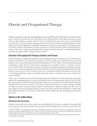 obesity and occupational therapy american journal of